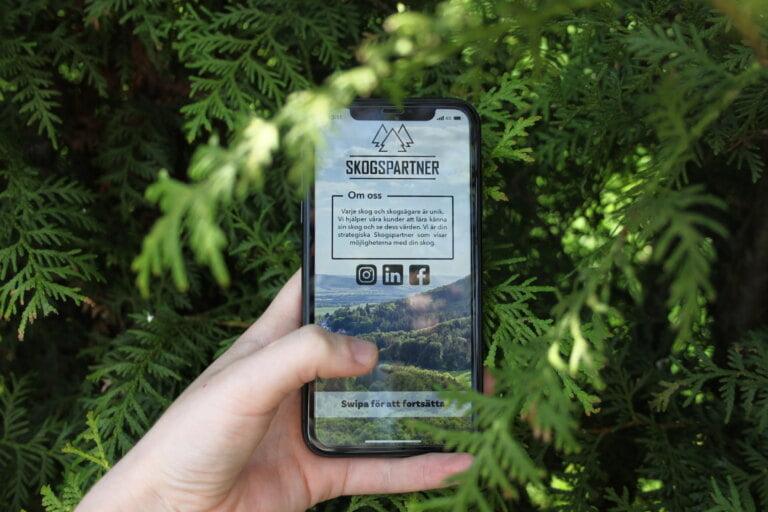 Skogspartner app lyckad lansering